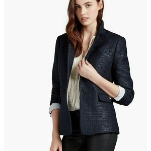 New Lucky Brand Tweed City Blue Blazer/Jacket
